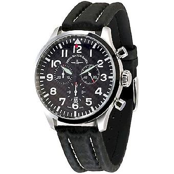 Zeno-watch montre quartz chronographe de Navigator NG, carbone 6569-5030Q-s1
