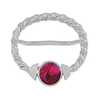 Ewige Sammlung Maxi Fuchsia Pink Paua Shell große Schal Silber Ring