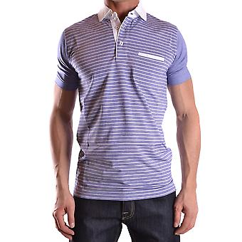 Dalmine Ezbc252001 Men's Blue Cotton Polo Shirt