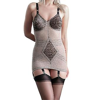 Rago style 9357 - body briefer extra firm shaping  - mocha/black