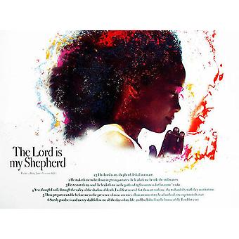 The Lord Is My Shepherd Poster Children (24x18)