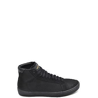 Saint Laurent Ezbc022032 Men's Black Suede Hi Top Sneakers