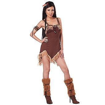 Native American Indian Princess Pocahontas westliche Frauen Kostüm