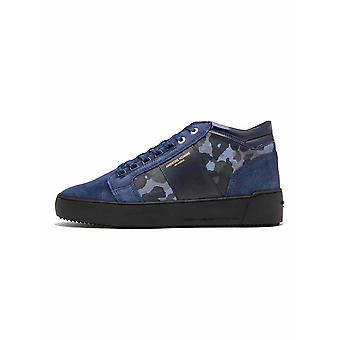 Android Homme  Navy Camouflage Suede Propulsion Mid Sneaker