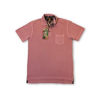 Tailor Vintage 3 button polo in salon pink
