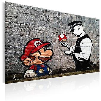 Canvas Print - Mario and Cop by Banksy