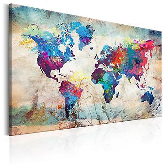 Obraz - Mapa świata: Kolorowe szaleństwo