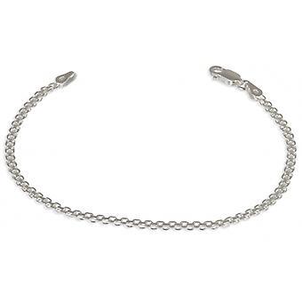 Bracelet Argent Rhodié Maille Bismarck 18cm