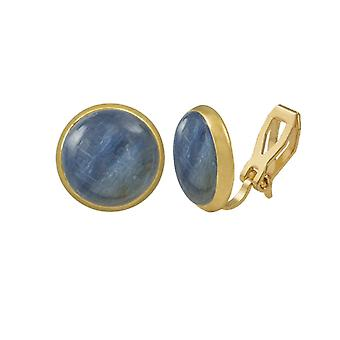 Eternal Collection Symphony Kyanite Gold Stud Clip On Earrings