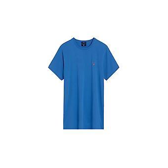 Gant Contrast Logo T-shirt Palace Blue