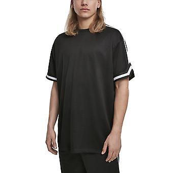 Kaupunkien klassikoita-ylimitoitettu raidat Mesh paita musta