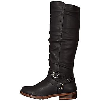 XOXO Womens Martin Round Toe Mid-Calf Fashion Boots