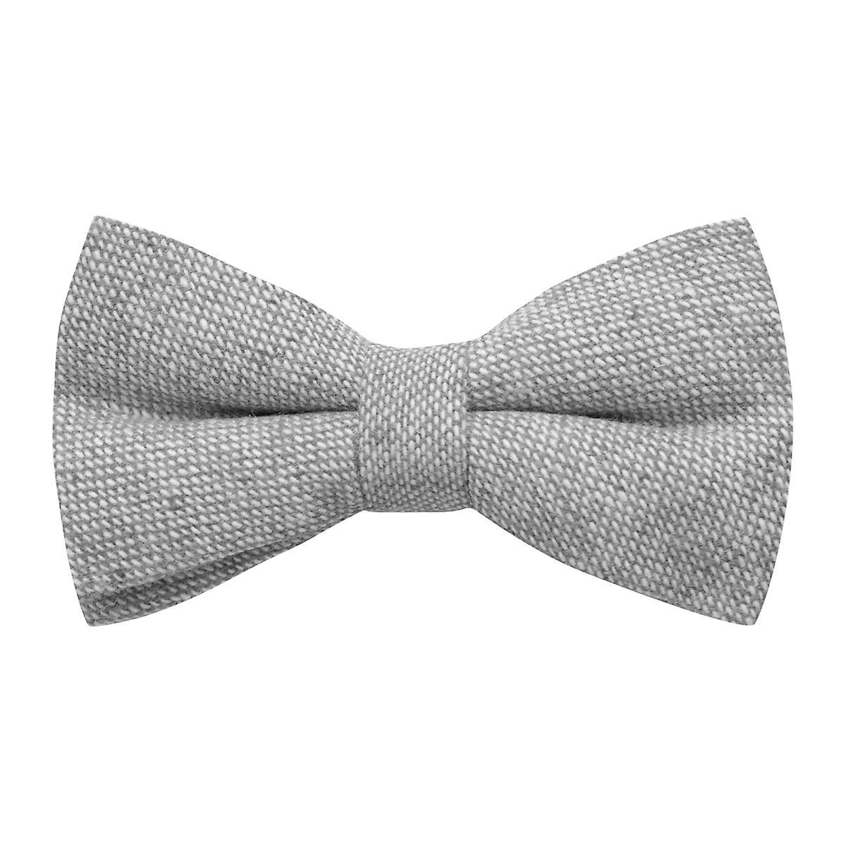 Highland Weave Stonewashed Light Grey Bow Tie
