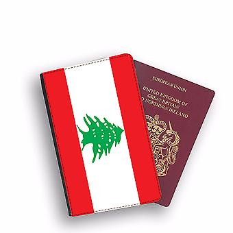 LEBANON Flag Passport Holder Style Case Cover Protective Wallet Flags design