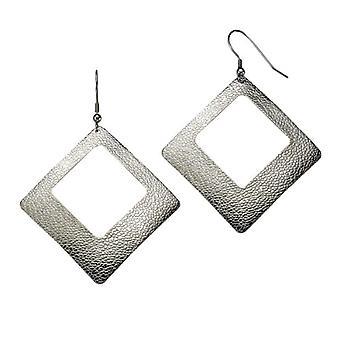 ZEEme - Women's pendant earrings - stainless steel - 72 mm - cod. 389030032