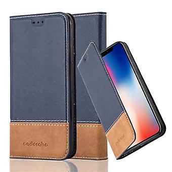Cadorabo Hülle für Apple iPhone X / XS hülle case cover - Handyhülle mit Magnetverschluss, Standfunktion und Kartenfach – Case Cover Schutzhülle Etui Tasche Book Klapp Style