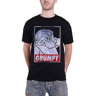 Disney T Shirt Schneeweiß Grumpy Zwerg Poster beunruhigt neue offizielle Herren schwarz