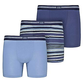 Jockey Cotton Stretch 3-Pack Boxer Trunks, Construct Blue, XX-Large