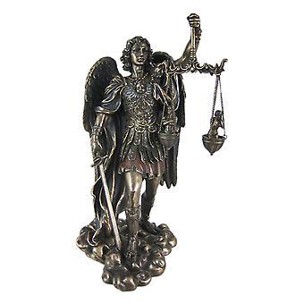 St. Michael met een gewicht van zielen standbeeld figuur Saint Angel