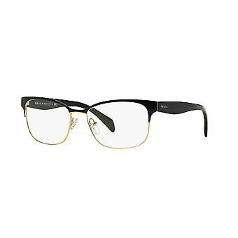 Prada VPR65R QE31O1 Black-Pale Gold Glasses