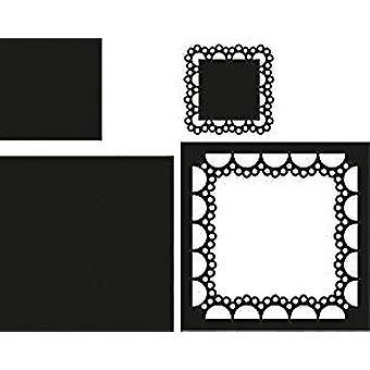 Marianne Design Passe Partout Square schmiedbar sterben, schwarz