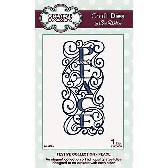 Creative Expressions Festive Collection - Peace Die Set by Sue Wilson - CED3005