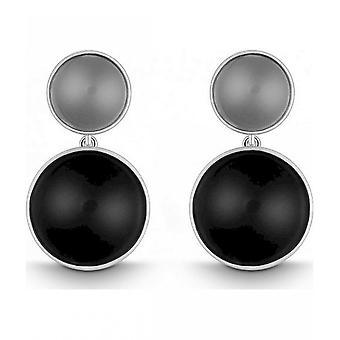 QUINN-korva korut (pari)-naiset-hopea 925-Gemstone-Onyx-3505892