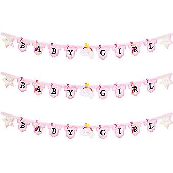 Baby Girl Banner 170cm Long New Birth Bunting