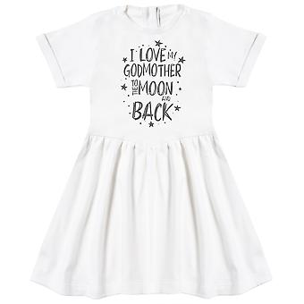 I Love My GodMother To The Moon And Back Baby Dress
