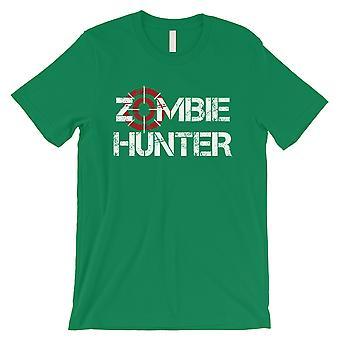 Zombie Hunter miesten vihreä täydellisyys craziness Fun Halloween T-paita