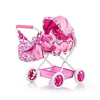 Wózek dla lalek Chipolino Gabby regulowany wózek do przewijania z koszem do przechowywania kosza