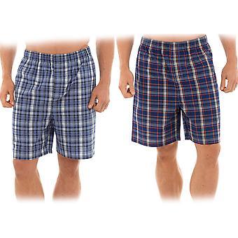 Tom Franks Mens Check Polycotton Pyjama Bottom (Pack of 2)