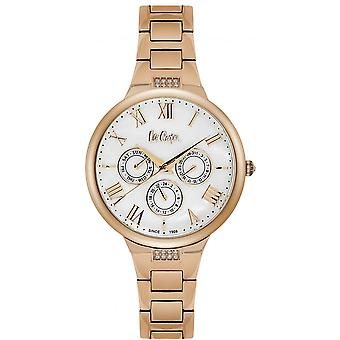 Shows Lee Cooper-LC06466-420 - steel e Dor pink dial white woman