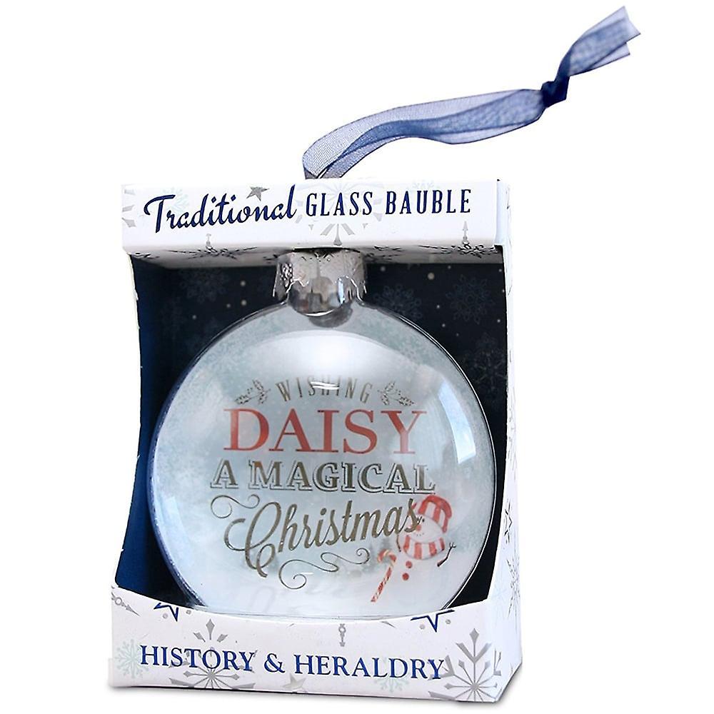 History & Heraldry Daisy Glass Bauble