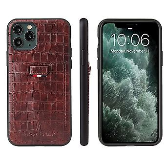 Pour iPhone 11 Cas Crocodile Pattern PU Cuir Portefeuille Couverture Brown