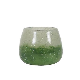 Light & Living Vase 20x16.5cm Pilaneo Glass Green-Light Green
