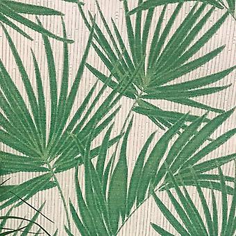 Aurora Palm Wallpaper Groen / Cream Belgravia 4990