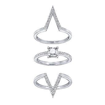מערכת הפאנק של סוורובסקי רודיום & ברורה טבעת קריסטל