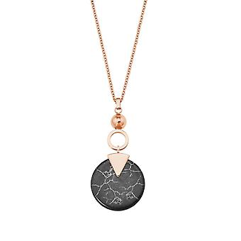 s.Oliver Jewel womens necklace stainless steel silver IP rose turquoise 2027580