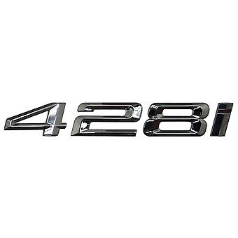 Silver Chrome BMW 428i Car Model Rear Boot Number Letter Sticker Decal Badge Emblem For 4 Series F32 F33 F36 G22 G23 G26