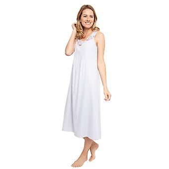 Cyberjammies 1374 Women's Nora Rose Portia Grey Gestreepte Katoen Geweven Nightdress