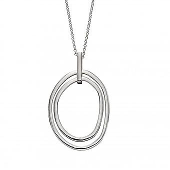 Elements Silver Sterling Silver Organic Double Hoop Pendant P4864