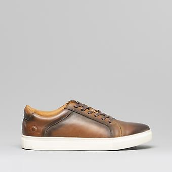 Chatham Jetty Mens Leather Casual Trainers Brown