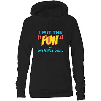Womens Sweatshirts Hooded Hoodie- I Put The
