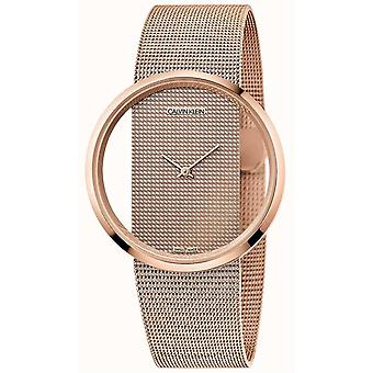 Calvin Klein K942362A Damer Glam Collection Rose Gold Tone Mesh Armbandsur