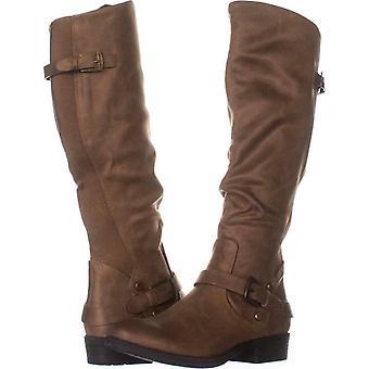 Goale capcane femei Yanessa migdale Toe genunchi High Fashion cizme
