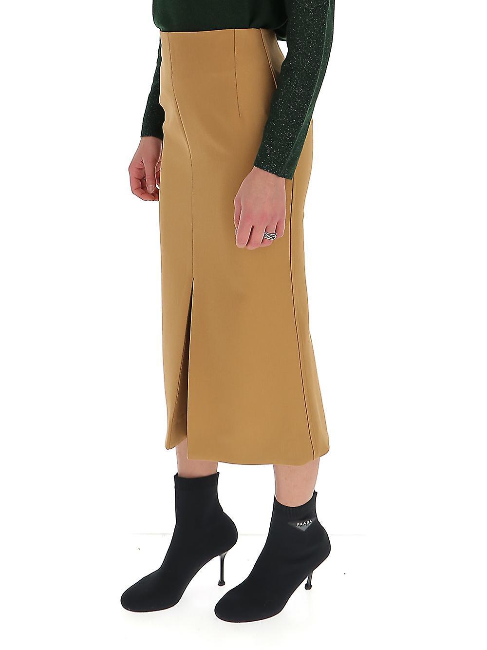 Victoria Beckham 31106itan Women-apos;s Beige Wool Jupe cY2twu