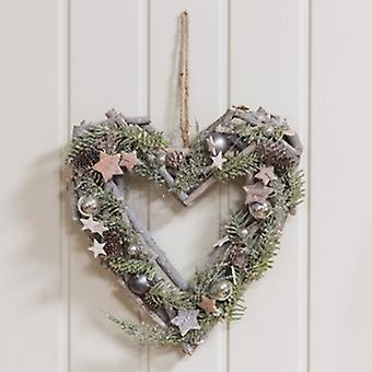 Widdop Gifts Heart Shaped LED Pine Cone Wreath|Handpicked Gifts