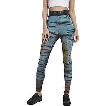 Urban Classics Ladies - Batik Tie Dye Korkea vyötärö säärystimet
