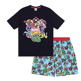 Marvel Comics Hulk Spiderman Official Gift Boys Kids Loungewear Short Pyjamas